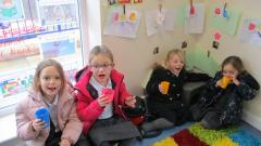 Children enjoying hot chocolate