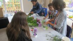 Flower arranging with Miss Northway